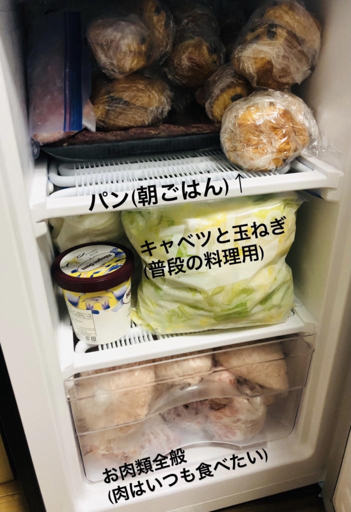 小型冷凍庫にコストコのものを入れた