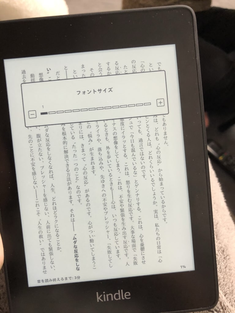 kindle文字の大きさ