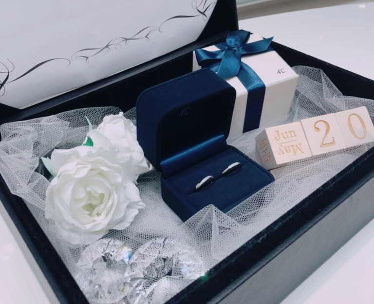 4℃ブライダルの結婚指輪BOX